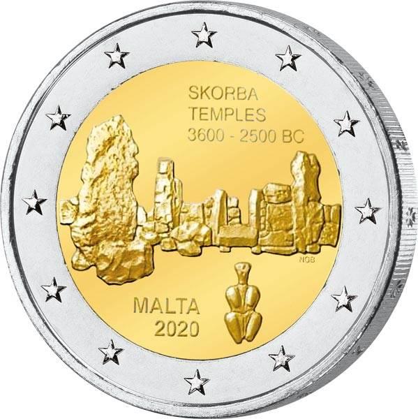 2 Euro Malta Tempel von Skorba 2020