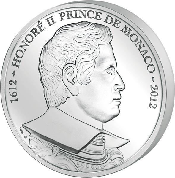 10 Euro Monaco 400 Jahre Fürstentitel Honoré II. 2012 - FOTOMUSTER