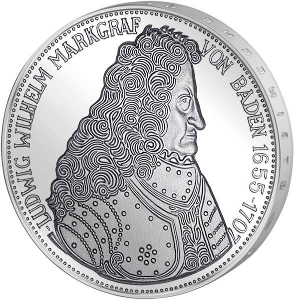 5 DM Münze BRD Markgraf von Baden 1955 G Vorzüglich