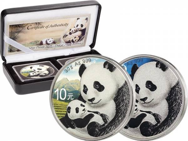 2 x 10 Yuan China Panda Day & Night 2019