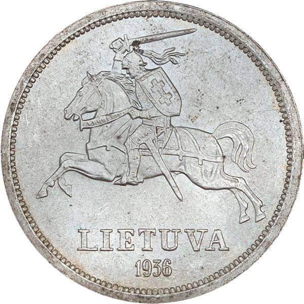 5 Litai Litauen Reiter Basanavicius