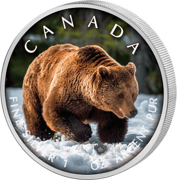 5 Dollars Kanada Trails of Wildlife Grizzly 2019