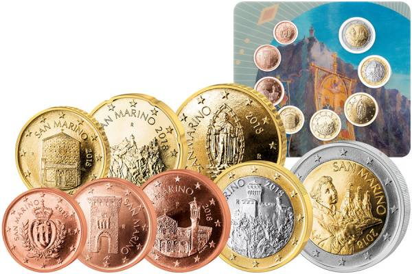 Euro-Kursmünzensatz San Marino 2018