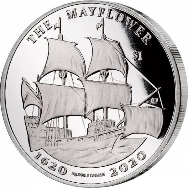 1 Dollar Jungferninseln Mayflower 2020