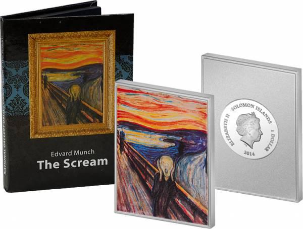 1 Dollar Salomonen Edvard Munch Der Schrei 2014 Polierte Platte (PP)