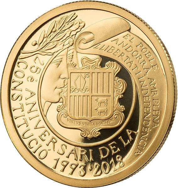 50 Euro Andorra 25 Jahre Verfassung von Andorra 2018