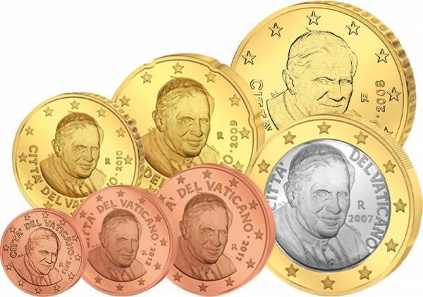Euro-Kursmünzen Vatikan 2006-2013