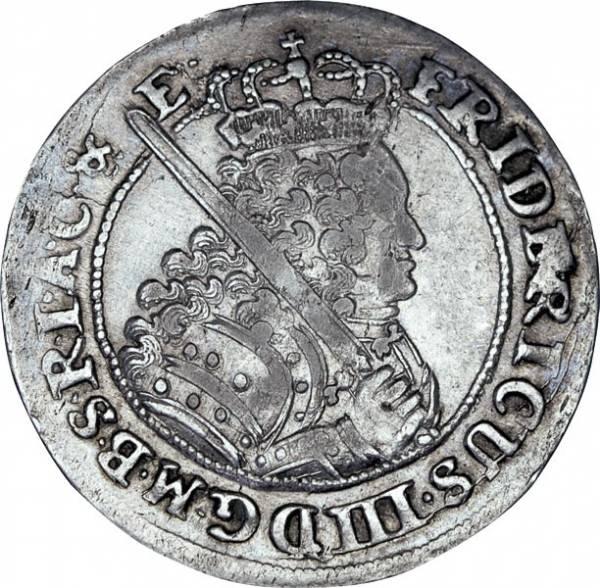 18 Gröscher Brandenburg-Preußen Kurfürst Friedrich III.1698 - 1700