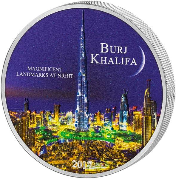 2.000 Francs Elfenbeinküste Magnificent Landmarks at Night Burj Khalifa 2017