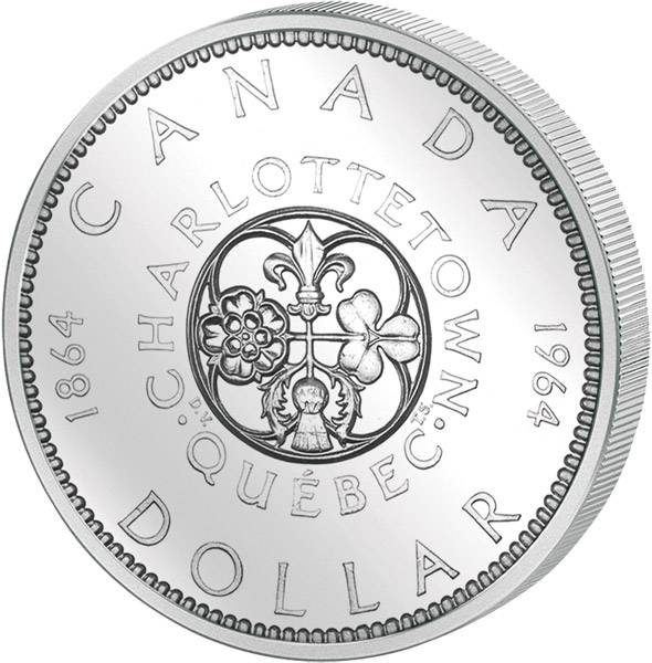 1 Dollar Silberdollar Charlottetown Quebec 1964  vz-st