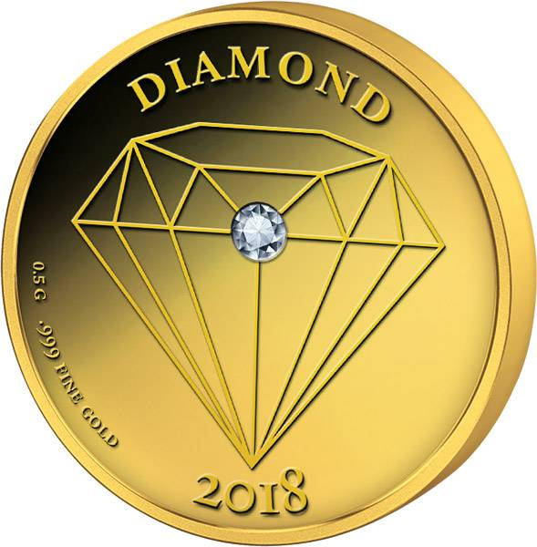 250 Francs Senegal Diamant  Gold Coin 2018
