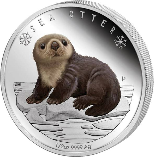 50 Cents Tuvalu Seeotter-Baby 2017