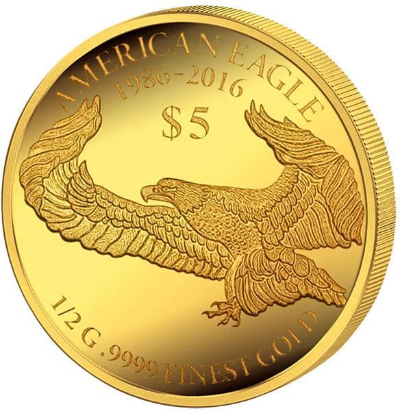 5 Dollars Fidschi 30 Jahre American Eagle