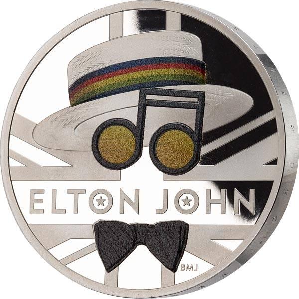 5 Pounds Großbritannien Elton John Rocket Man 2020