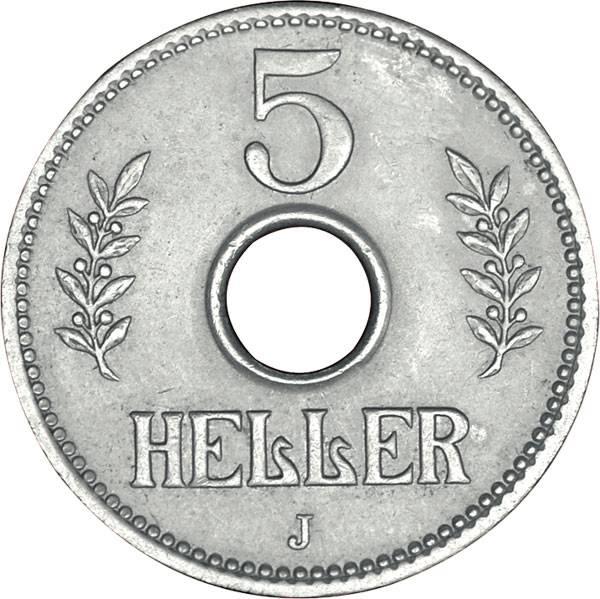 5 Heller Deutsch Ostafrika Kronenwappen 1913-1914 Sehr schön