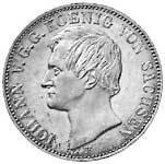 Ausbeutetaler Johann König von Sachsen 1855-1856 ss-vz