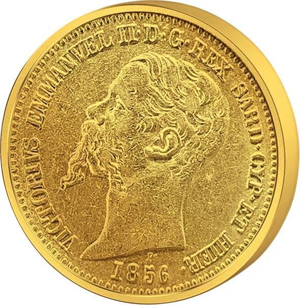 20 Lire Italien König Viktor Emanuel II. 1850-1862