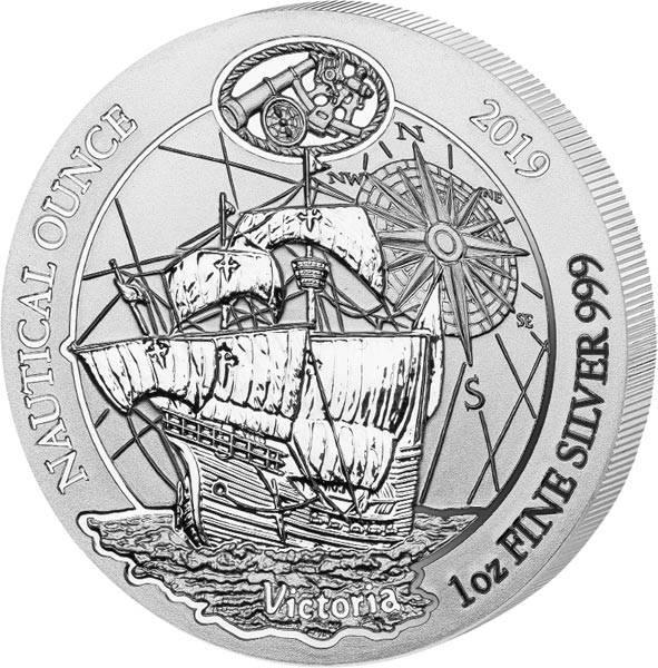 1 Unze Silber Ruanda Segelschiff Victoria 2019