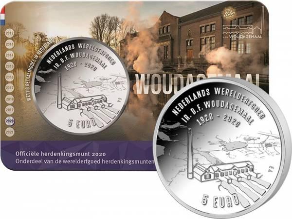 5 Euro Niederlande UNESCO-Weltkulturerbe Wouda Pumpwerk 2020