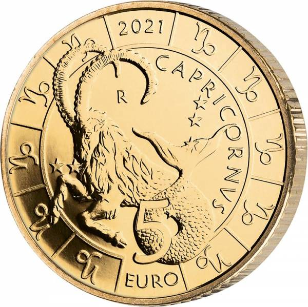 5 Euro San Marino Tierkreiszeichen Steinbock 2021