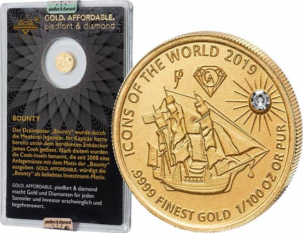 10 Francs Ruanda Gold Affordable Diamond Edition Bounty 2019