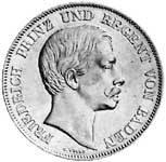 Taler Doppelgulden Friedrich I. 1856  Vorzüglich