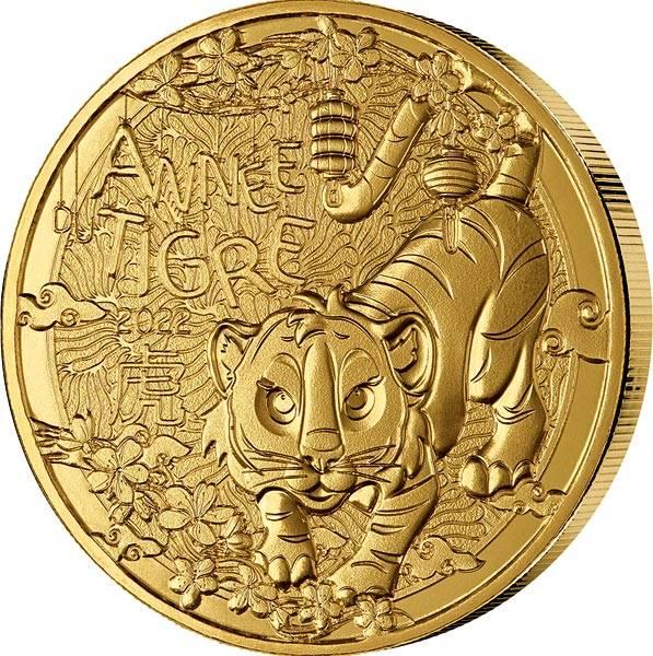 1/4 Euro Frankreich Jahr des Tiger 2022
