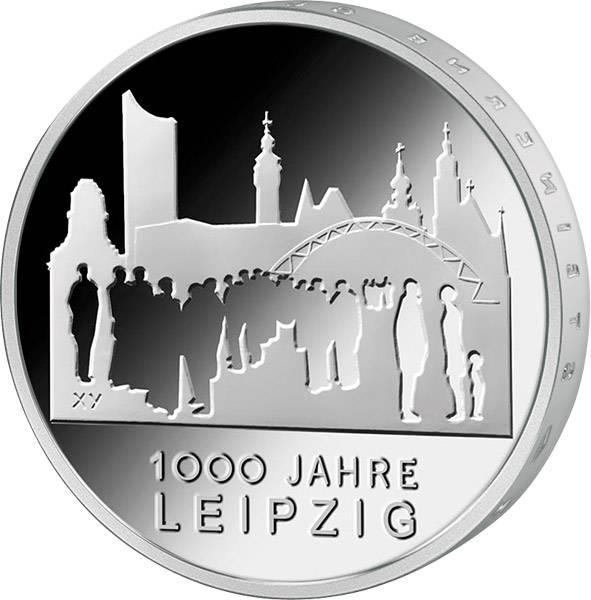 10 Euro Gedenkmünze BRD 1.000 Jahre Leipzig 2015