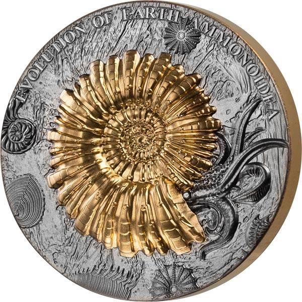 2 Dollars Niue Evolution der Erde Ammoniten 2018