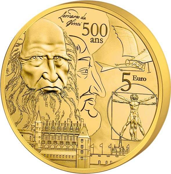 5 Euro Frankreich 500. Todestag Leonardo da Vinci 2019