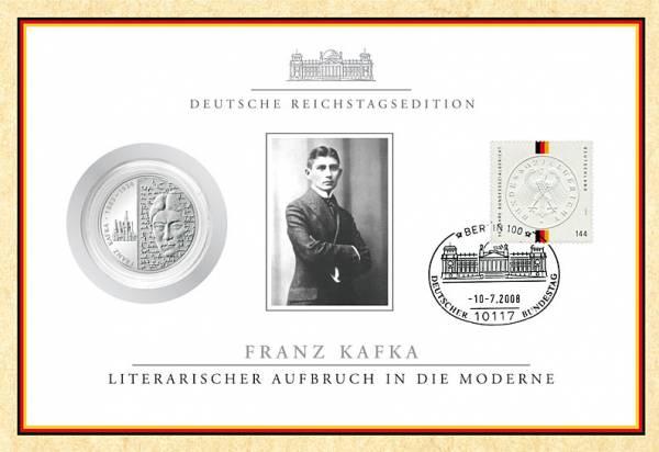 10 Euro BRD Franz Kafka im Reichstagszertifikat 2008 Stempelglanz