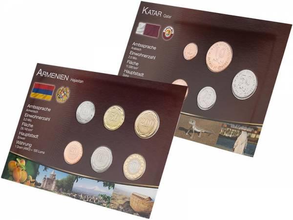 Premium-Kursmünzensätze Katar und Armenien
