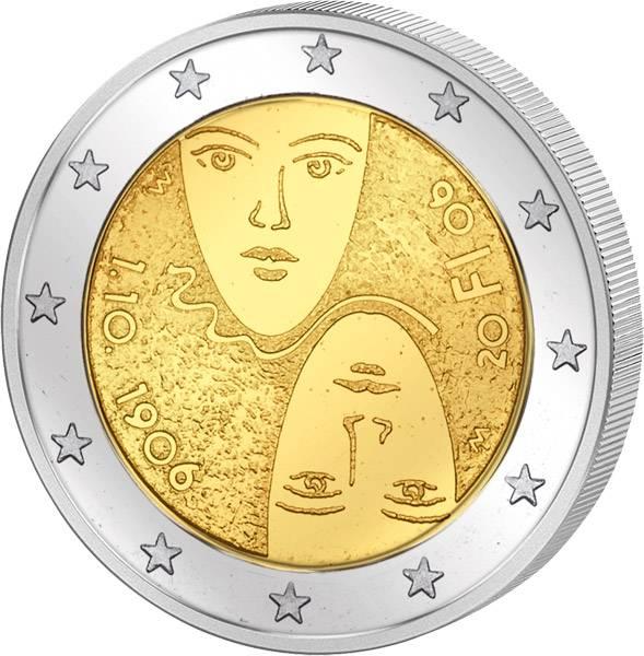 2 Euro Finnland 100 Jahre gleichberechtigtes Wahlrecht 2006