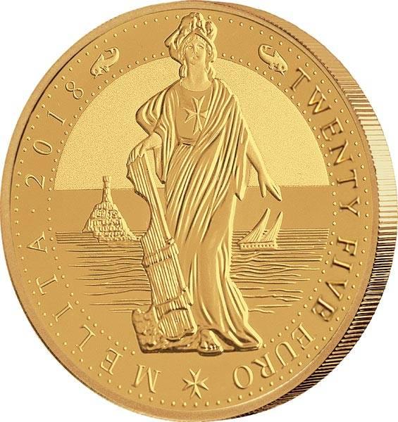 1/4 Unze Gold Malta Melita 2018