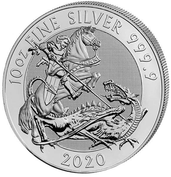 10 Unzen Silber Großbritannien Sankt Georg und Drache 2020