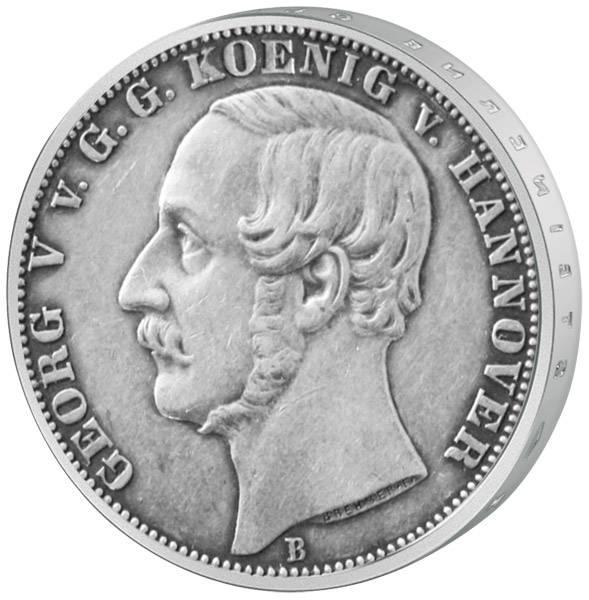Vereinstaler König Georg V. 1857-1866 Sehr schön