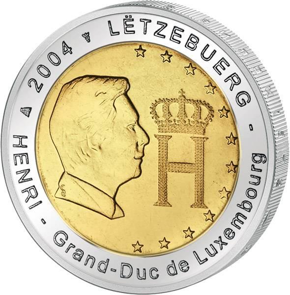 2 Euro Luxemburg Großherzog Henri 2004 prägefrisch