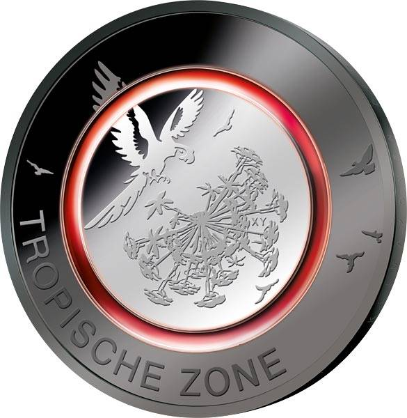 5 Euro BRD Tropische Zone Ruthenium-Edition 2017