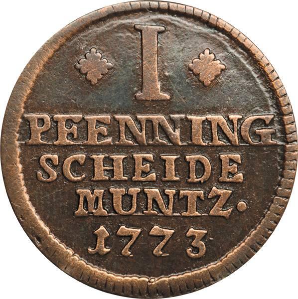 1 Pfenning Braunschweig  Wolfenbüttel Sachsenross 01736