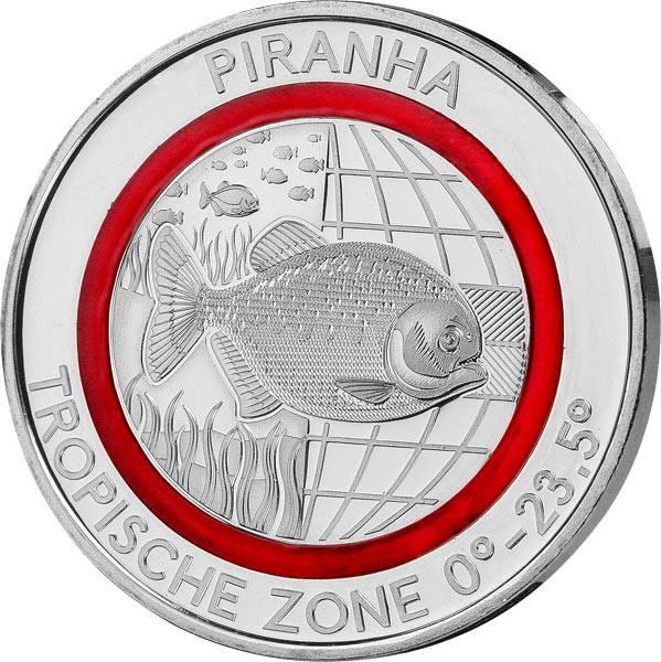 Gedenkprägung Tropische Zone Piranha