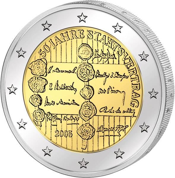 2 Euro Österreich 50 Jahre Staatsvertrag 2005