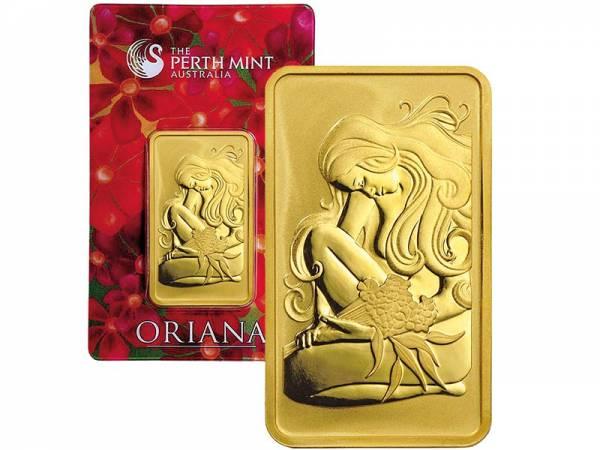 1 Unze Goldbarren Australien Oriana