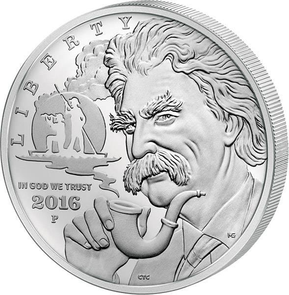 1 Dollar USA Mark Twain 2016 Polierte Platte (PP)