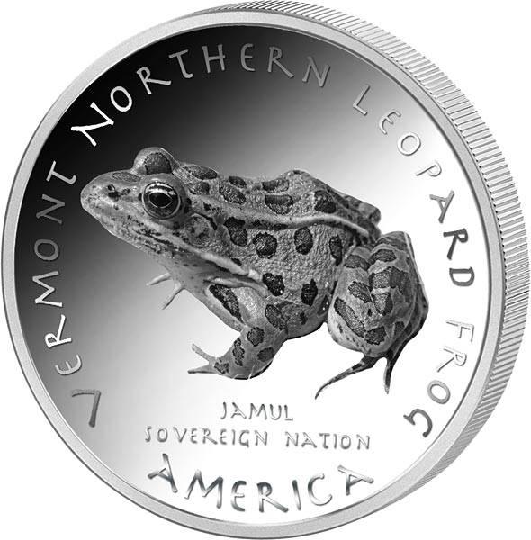 1 Dollar USA Native State Dollar Vermont Pennacook Leopardfrosch 2021