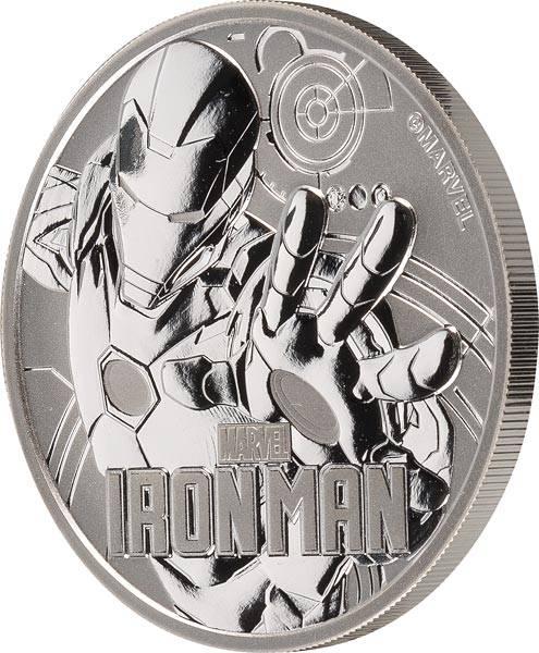 1 Unze Silber Tuvalu Marvel Iron Man 2018