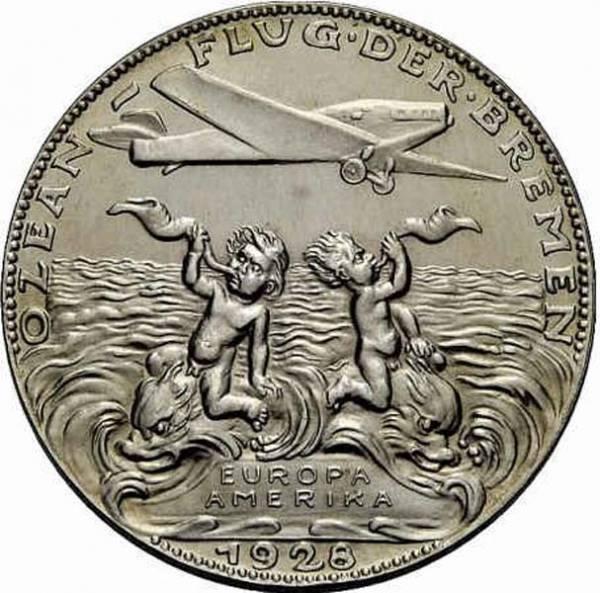 Silbermedaille des Ost-Westflugs der Bremen 1928