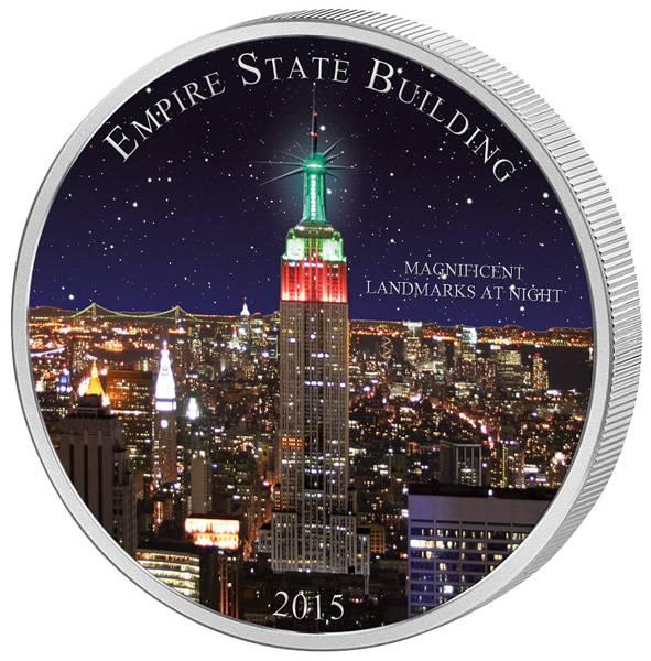 1.500 Francs Kamerun Empire State Building 2015 Stempelglanz