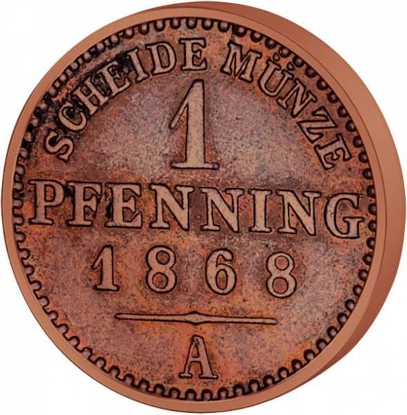 1 Pfennig Preußen Kaiser Wilhelm I. 1861-1873 Sehr schön