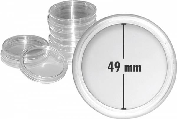 10er-Pack Münzkapseln Innendurchmesser 49 mm