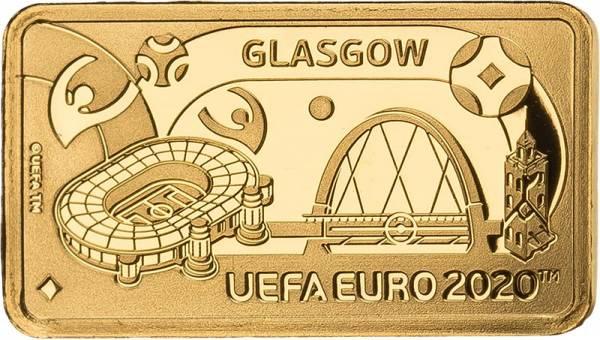 1 Pound Gibraltar Fußball Europameisterschaft Glasgow 2020